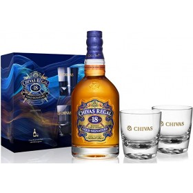 CHIVAS REGAL 18 YEARS 75CL WITH 2  GLASS (2019)
