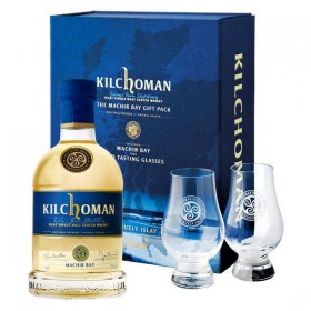 KILCHOMAN MACHIR BAY 70CL GIFT PACK WITH TWO NOSING GLASS