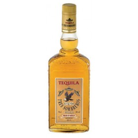 TRES SOMBREROS TEQUILA GOLD 70CL